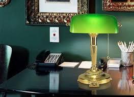 green desk lamp glass shade