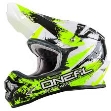 2016 Oneal 3 Series Motocross Helmet Shocker Black Neon