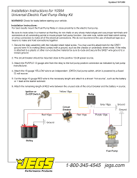 wrg 4232 12 volt fuel pump relay wiring diagram jegs 10564 installation instructions