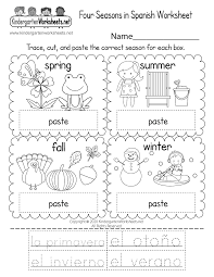 Try these spanish worksheets with your little linguist. Four Seasons In Spanish Worksheet Free Printable Digital Pdf