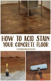 on diy acid stain concrete floor