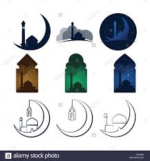 Unique Graphic Design Unique Mosque Vector Illustration Graphic Design Template