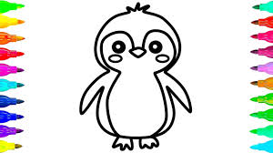 cute penguin coloring pages. Delighful Cute How To Draw And Color A Cute Penguin Coloring Pages Hde Youtube Beauteous Page  Penguins Throughout Y