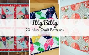 Mini Quilt Patterns Interesting Itty Bitty 48 Mini Quilt Patterns Seams And Scissors
