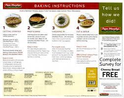 Papa Murphy S Pizza Size Chart Papa Murphys Pizza Baking Instructions Flyer Side 1