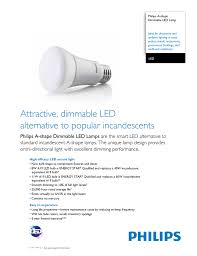 Philips Led Light Warranty Attractive Dimmable Led Alternative To Popular Incandescents