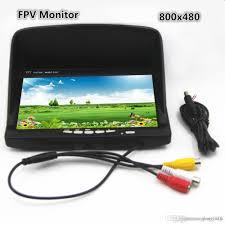 best car inch fpv monitor x resolution tft lcd color car 7 inch fpv monitor 800x480 resolution tft lcd color monitor blue screen lcd monitor for