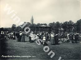 crowds gathered at the bandstand in the pump room gardens leamington spa