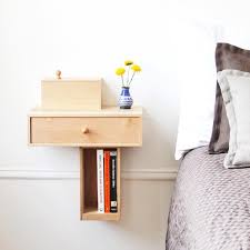 ideas bedside tables pinterest night: the traditional bedside table is a space hog that offers little storage in return for