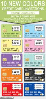 Credit Card Party Invitations