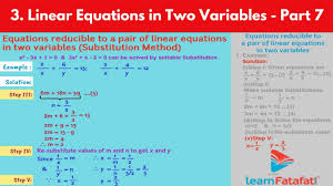 linear equations in two variables ssc algebra std 10 maharashtra board