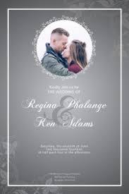 Wedding Invitation Templates With Photo 410 Wedding Invitation Templates Customizable Design