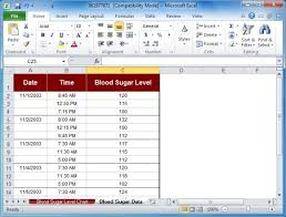 Glucose Charts Free Blood Sugar Tracker Template For Excel