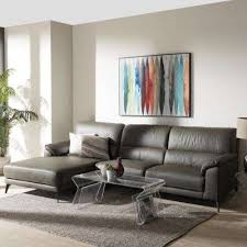 dark living room furniture. Contemporary Living Radford 2Piece Dark Grey Leather Sleep Sectional Throughout Living Room Furniture