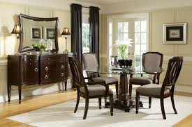 mirrored dining room table base dugge ideas including round images furniture transpa gl top with brown wooden buffer pedestal plus chairs mirror