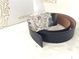 versace belt box. belt. silver-tone buckle with medusa head 100% leather made in italy versace belt box