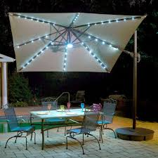 island umbrella santorini ii fiesta 10 ft square cantilever patio umbrella in beige sunbrella acrylic