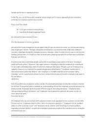 Customer Service Performance Evaluation Template Staff