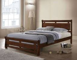 mikaela wooden bed