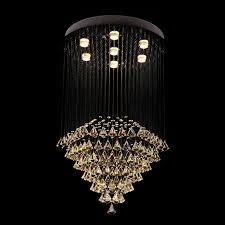 7 lights modern led crystal ceiling pendant light indoor chandeliers home hanging down lighting lamps fixtures