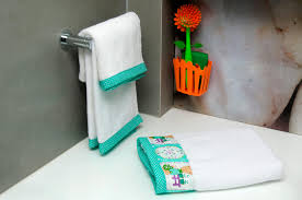 towel for kids. Picture Of HomeStrap Twine Kids Bath Towel Set - White Pack 3 By For W