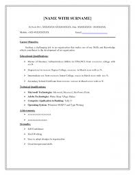 Fill In The Blank Resume Template Gorgeous Easy Free At Cv