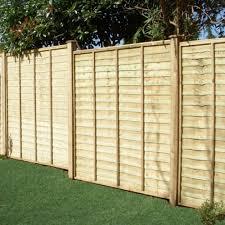 overlap fence panel 4ft h x 6ft w green tana
