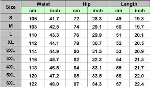 X Large Size Chart 3d Shorts Size Chart Astrezo