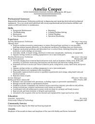 Maintenance Technician Resume Awesome 2723 Best Facility Maintenance Technician Resumes ResumeHelp