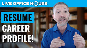Powerful Resume Tips The Career Profile Live Office Hours Andrew Lacivita