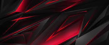 Black Red Abstract Polygon 3D 4K ...