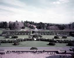 the main fountain garden as seen in 1950 photo by gottlieb hampfler courtesy of the longwood gardens archives