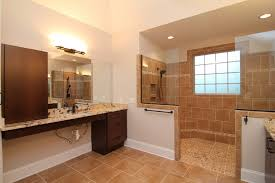 roll under vanity for wheelchair access this master bath