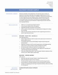 Machine Operator Resume Sample Cnc Machine Operator Resume Sample Fresh Cnc Supervisor Cover Letter 38
