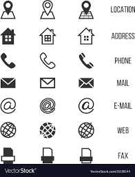 Phone And Address Business Card Icons Home Phone Address