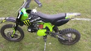 orion 125cc pit bike test ride after rebuild monster energy hd