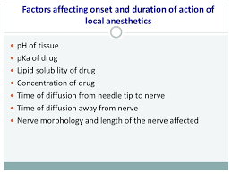 Local Anesthetic Duration Of Action Chart Local Anesthetics Dr Cermanova Ppt Video Online Download