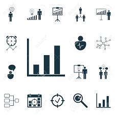 Bar Management Organizational Chart Set Of 16 Management Icons Includes Conversation Bar Chart