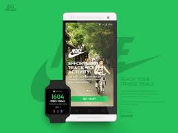 nike fitness app concept android wear visual design ui health workout gym idea sports running concept