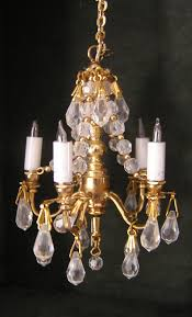 dollhouse lighting. Crystal Chandelier Attributed To Phyllis Tucker MSV08 Dollhouse Lighting