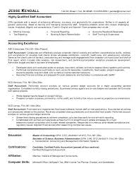 Cpa Sample Resume