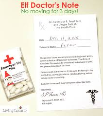 How To Get Doctors Note Elf Doctors Note Funny Elf Idea For Parents Living Locurto