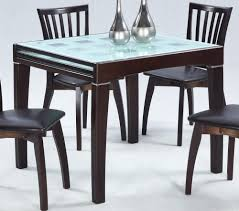 elegant glass top expandable dining table sets
