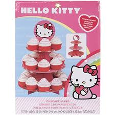 Amazoncom Wilton Hello Kitty Paper Cupcake Stand Holds 24