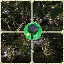 inst solar powered led string light ambiance lighting 54 5ft 17m 100 led solar fairy string lights for outdoor gardens homes party warm