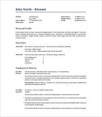 Latex Resume Template  8+ Free Word, Excel, Pdf Free Download