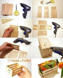 diy mini pallet crate made out of popsicle sticks