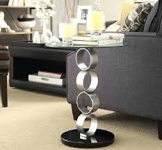 glass side tables for living room with contemporary design black australia