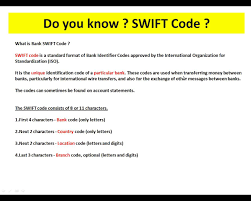 What Is Bank Swift Code Youtube