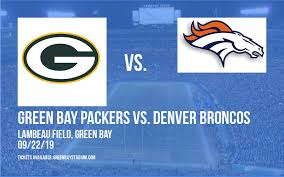 Parking Green Bay Packers Vs Denver Broncos Tickets 22nd